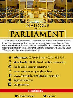 DID YOU KNOW YOU CAN TALK TO PARLIAMENT OF GHANA USING NEW DIGITAL TOOLS?