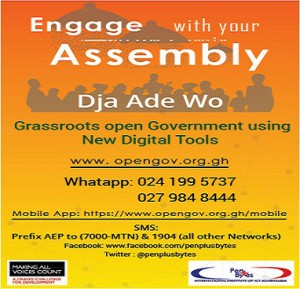 PENPLUSBYTES LAUNCHES ADA GRASSROOT OPEN GOVERNMENT PROJECT