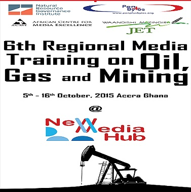 Penplusbytes, NRGI holds 6th Regional Media Training on Extractives