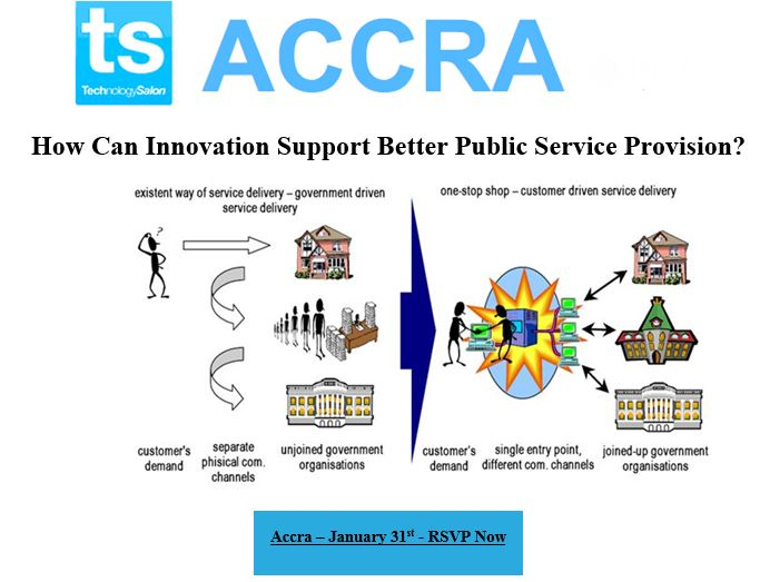 "RSVP NOW: January Tech Salon on ""How can Innovation Support Better Public Service Provision?"""
