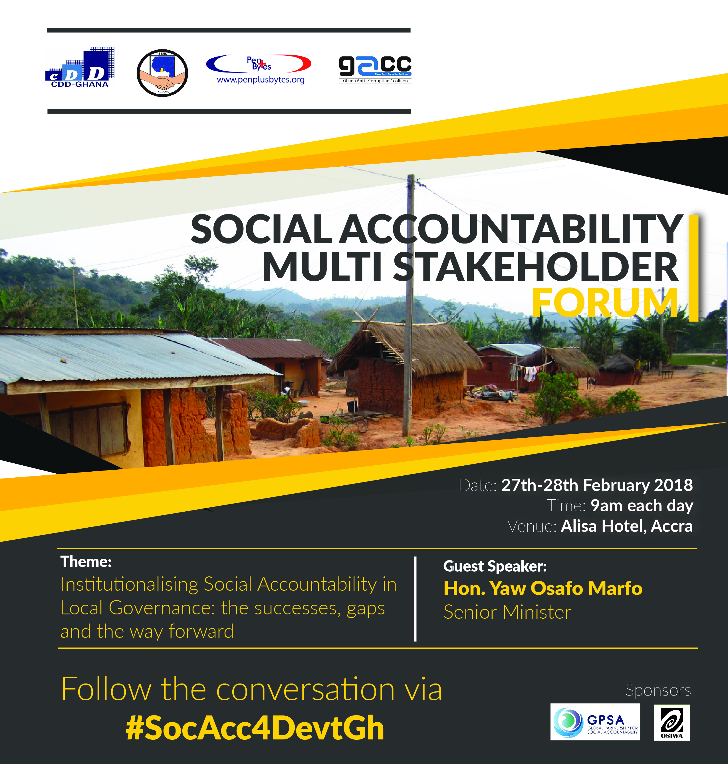2-day Social Accountability Multi Stakeholder Forum takes off in Accra