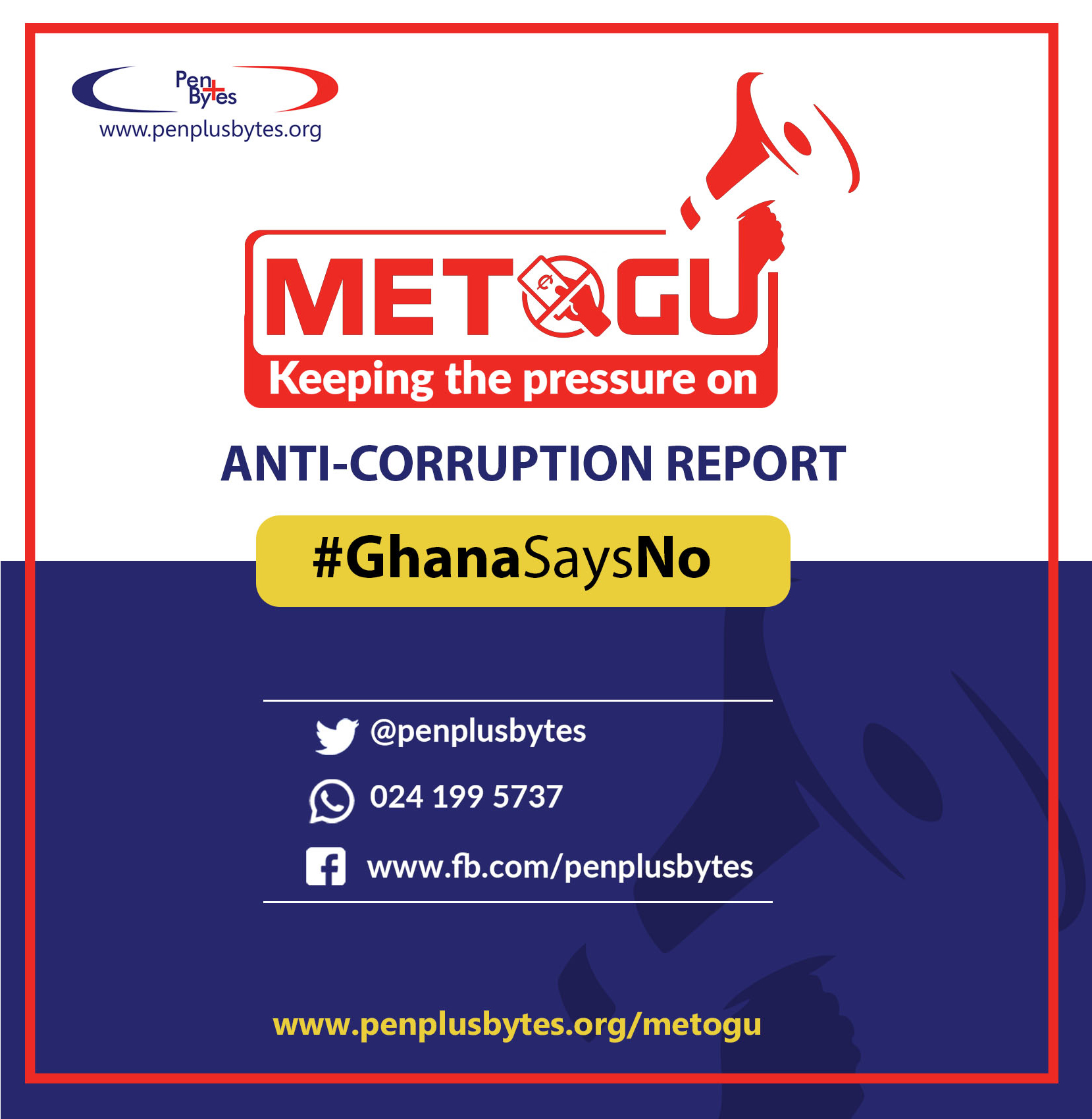 """The NPP can only be seen to be serious about fighting corruption if it passes the RTI Bill"" – Western Regional Penplusbytes Metogu Report Findings"