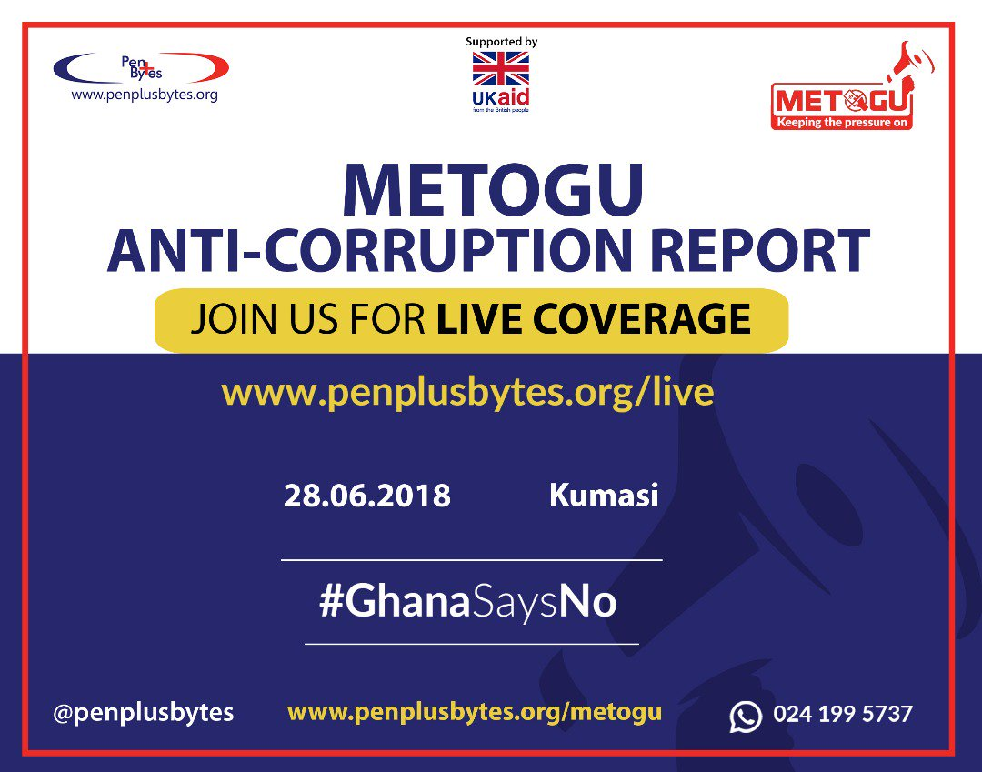 Corruption Perception High in Ashanti Region Despite Being NPP stronghold: Penplusbytes Metogu Report Findings