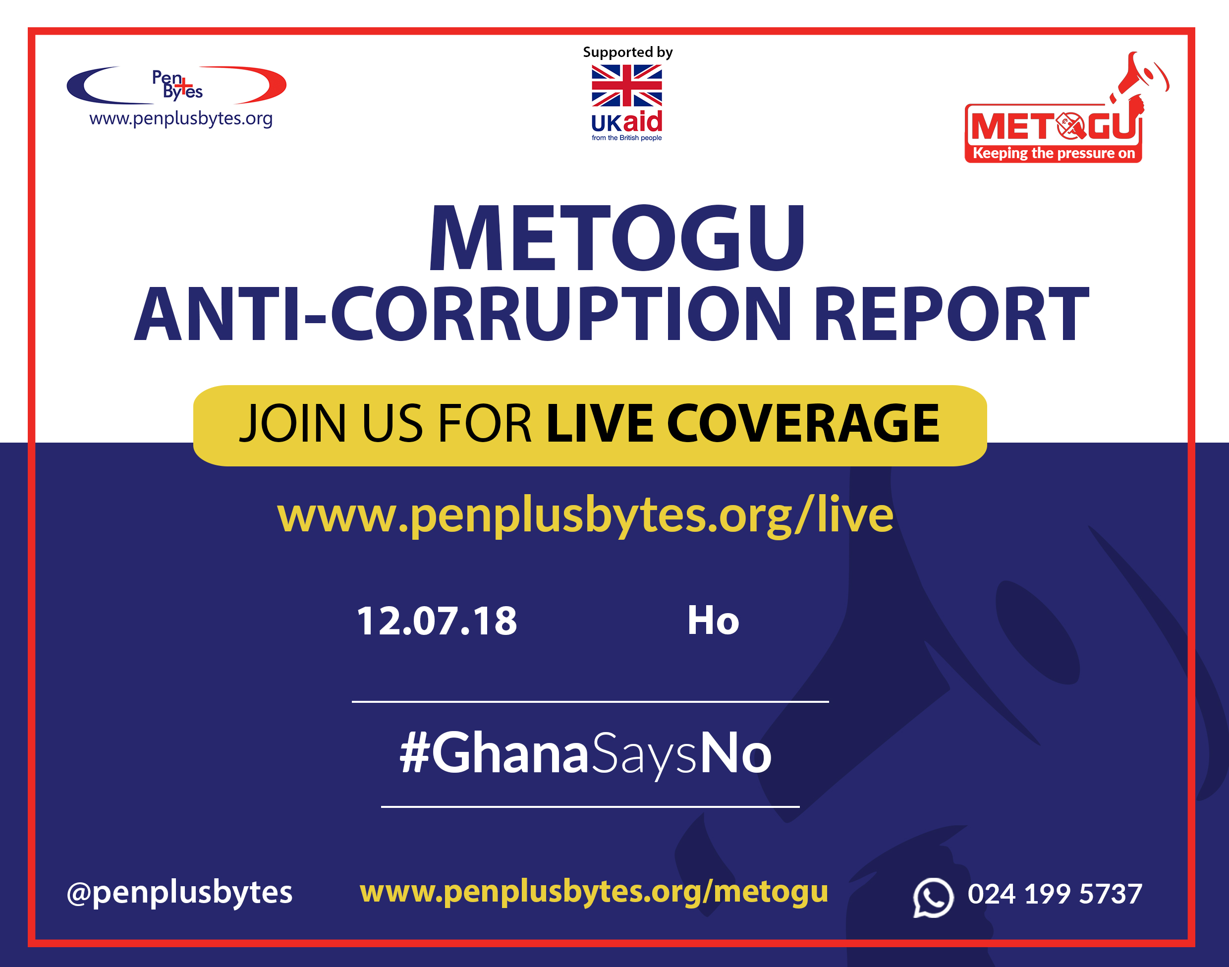"""Government is not committed to passing the Right to Information Bill before the end of 2018,"" Volta Regional Penplusbytes Metogu Report"